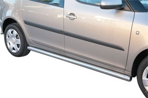 Skoda Roomster side protections 63 mm