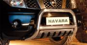 Nissan Navara D40 Type U 70 mm crossbar with axle plate CE Approved