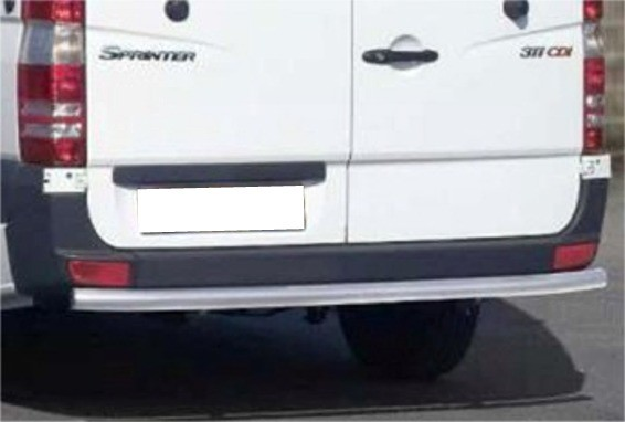 Mercedes Sprinter 06' rear bar 60 mm brushed MWB