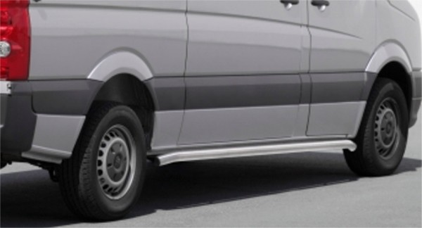 Mercedes Sprinter 06' side bar set 60 mm brushed LWB