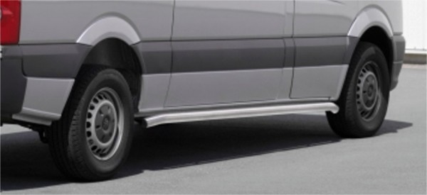 VW Crafter 06' side bar set 60 mm brushed MWB