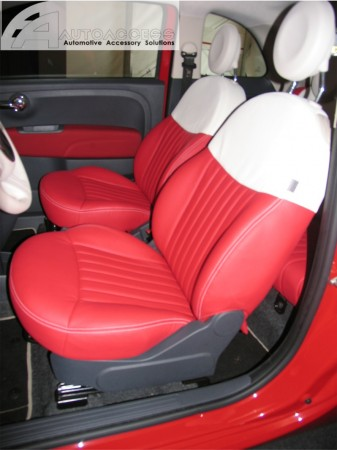 Fiat 500 Interior Upgrade Red White
