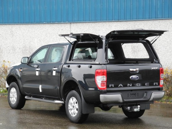 hardtop cme ford ranger t6 dc panther black. Black Bedroom Furniture Sets. Home Design Ideas