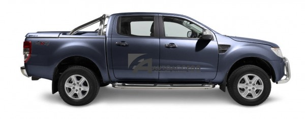 Sportlid Ford Ranger 3pc Dc 11 Sea Grey 73h With Oe Rollbar