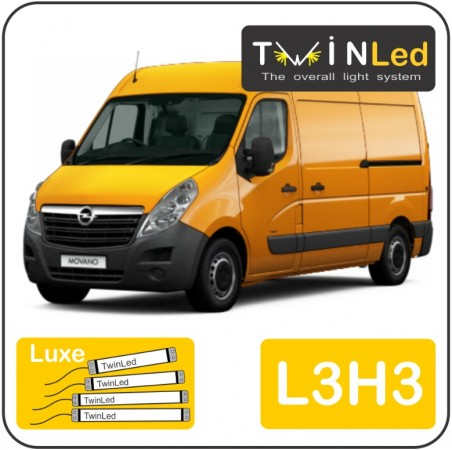 Opel Movano L3H3 Twinled 12v. Luxe set