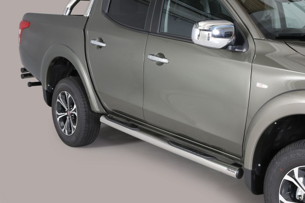 Fiat Fullback DC '16 Side bar with steps 76mm