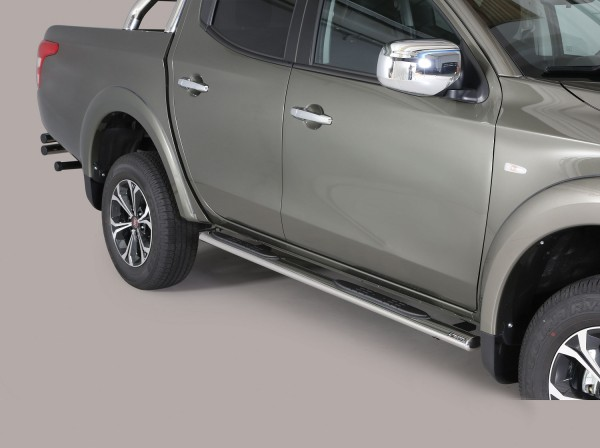 Fiat Fullback DC '16 Oval side bar with steps