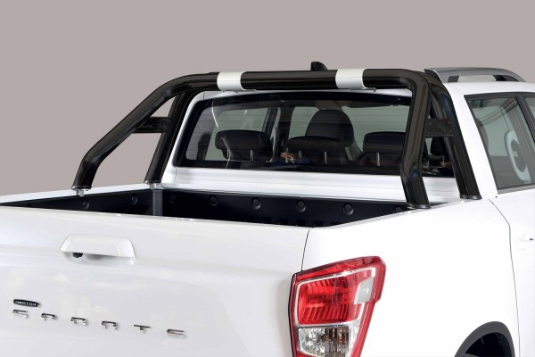 SsangYong Musso '18 Roll bar design Black 76mm with mark