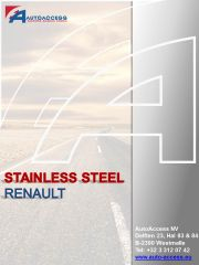 Renault - Stainless steel programma 2016